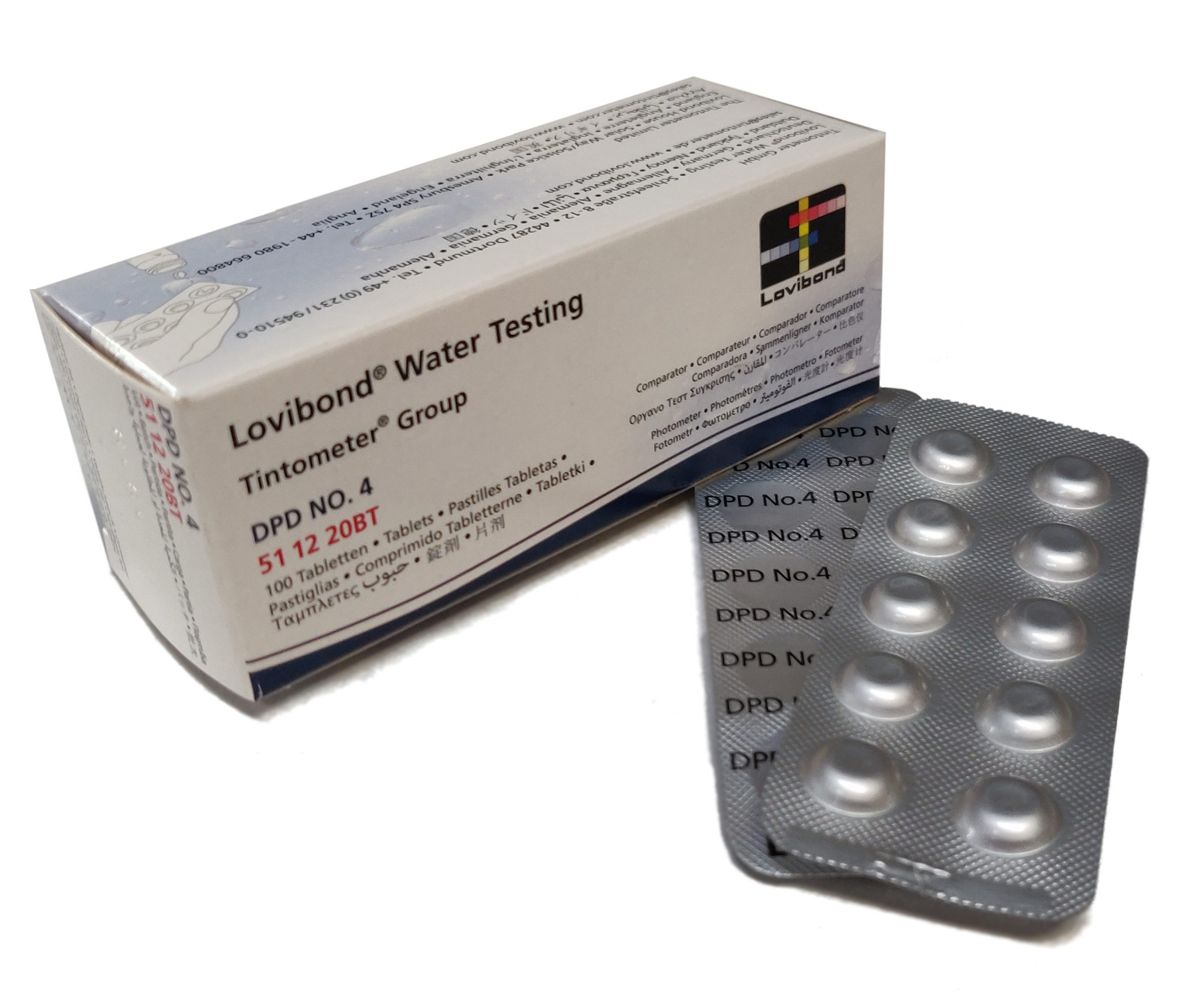 DPD Nr. 4, Aktivt Syre 0,1-10 mg/l (fotometer)